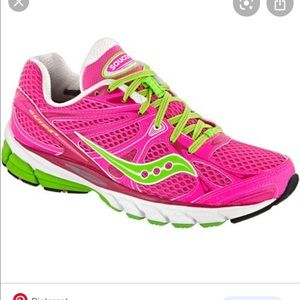 SAUCONY GUIDE 6 STABILITY SHOES NEON PINK SIZE 8.5